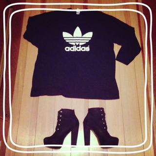 アディダス(adidas)のadidas✾ビッグ長袖T(Tシャツ(長袖/七分))