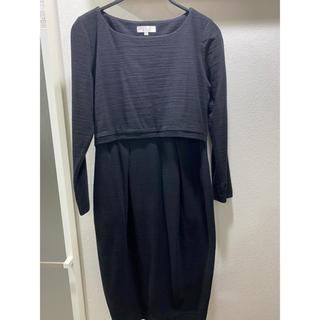 モーハウス(Mo-House)のスウィートマミー 授乳服 ワンピース L ブラック(マタニティワンピース)