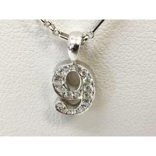 アイファニー(EYEFUNNY)のアイファニー ナンバーネックレス 9 ダイヤ付きトップ チェーン 0357-02(ネックレス)