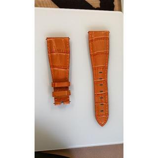ガガミラノ(GaGa MILANO)の新品 GaGa MILANO ベルト 48ミリ適用レザーベルトオレンジ色(レザーベルト)