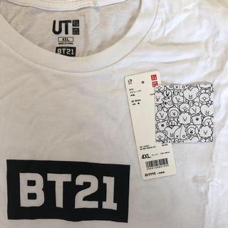 ボウダンショウネンダン(防弾少年団(BTS))のユニクロ bt21 コラボTシャツ 4XL(Tシャツ/カットソー(半袖/袖なし))