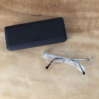 ダンヒル(Dunhill)のダンヒル メガネフレーム シルバー 眼鏡 男性 アルフレッドダンヒル(サングラス/メガネ)