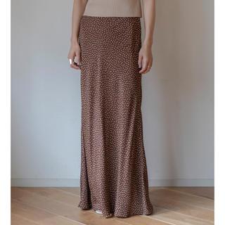 フィーニー(PHEENY)のPheeny Rayon dot skirt ブラウン サイズ2(ロングスカート)