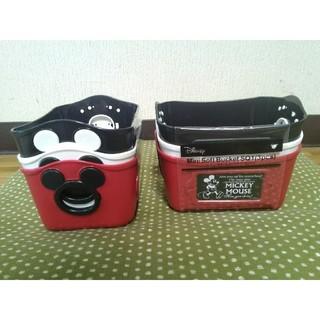 ディズニー(Disney)の【新品未使用】ディズニー ミッキーミニバケツ 3個セット×2 黒白赤3色アソート(ケース/ボックス)