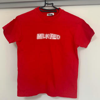 ミルクフェド(MILKFED.)のMILKFED. Tシャツ 赤 メンズ ロゴT レッド XS ミルクフェド(Tシャツ/カットソー(半袖/袖なし))