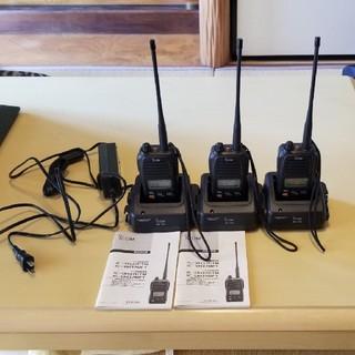 値下げ美品iCOM(アイコム)簡易無線機 IC-UH37CTM免許局3点セット(アマチュア無線)