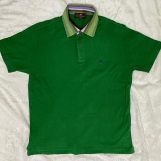 エトロ(ETRO)の美品限定 ETRO(エトロ) 半袖ポロシャツ メンズ グリーン×マルチ正規品(ポロシャツ)