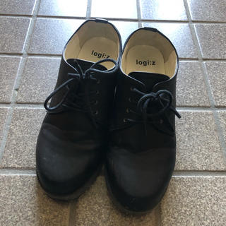 ハコ(haco!)のhaco レースアップシューズ 黒(ローファー/革靴)