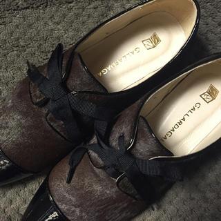ガリャルダガランテ(GALLARDA GALANTE)のハラコレースアップシューズ↓値下げ(ローファー/革靴)