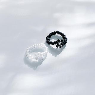 韓国ファッション ビーズリング 指輪(リング(指輪))
