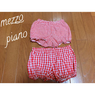 メゾピアノ(mezzo piano)のメゾピアノ ギンガムチェック パンツ 80 カボチャパンツ(パンツ)