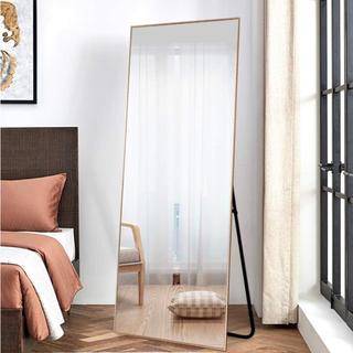 ザラホーム(ZARA HOME)の大型 全身鏡 スタンドミラー 姿見 ゴールド 細身フレーム ワイド 金(スタンドミラー)