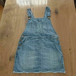 プラステ(PLST)のPLST プラステ デニム サロペット ジャンパースカート Mサイズ(サロペット/オーバーオール)