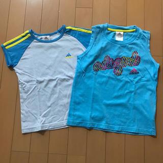 アディダス(adidas)のadidas  女児 130  半袖Tシャツ+ランニング セット(Tシャツ/カットソー)