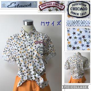 エスタコット(ESTACOT)の女性 M《Estacot》(☆柄)シャツ(シャツ/ブラウス(半袖/袖なし))