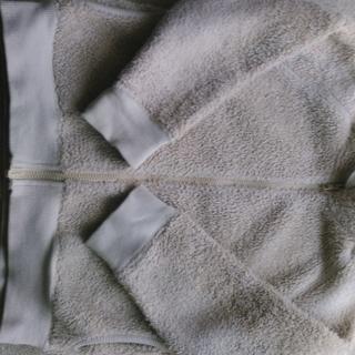 ムジルシリョウヒン(MUJI (無印良品))の無印 120 ベージュモコモコアウター 男女🆗(ジャケット/上着)