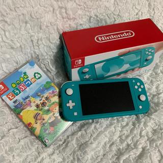 ニンテンドースイッチ(Nintendo Switch)のNintendo Switch  Lite ターコイズ どうぶつの森付き(家庭用ゲーム機本体)