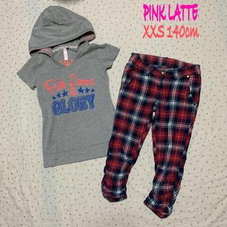ピンクラテ(PINK-latte)の値下げ PINK LATTE 140㎝ 半袖スウェット パンツ コーデ売り(その他)