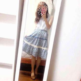 シンシア(cynthia)のシンシア♡小花柄コットン膝丈スカート(ひざ丈スカート)