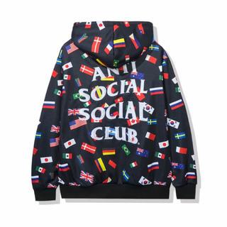 アンチ(ANTI)のANTI SOCIAL SOCIAL CLUB 国旗パーカー Mサイズ(パーカー)