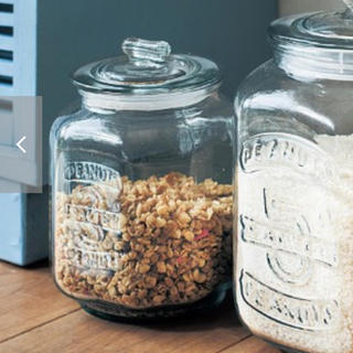 ベルメゾン - ガラスの米櫃(パッキン付きでお米約3KG)