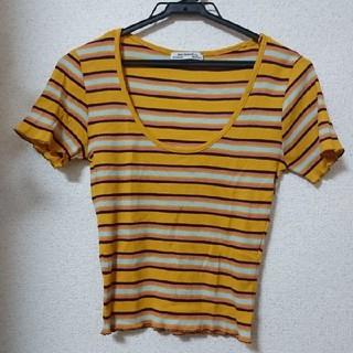 ザラ(ZARA)のZARAマルチカラー ボーダー リブ Tシャツ カットソー(Tシャツ(半袖/袖なし))