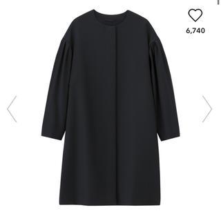 ジーユー(GU)の☆新品☆ GU ボリュームスリーブコート ブラック(スプリングコート)