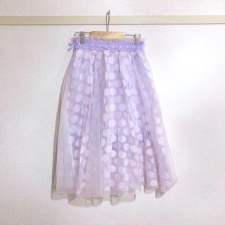 リズリサ(LIZ LISA)の〈 新品 〉水玉 * purple * tulleskirt(ロングスカート)