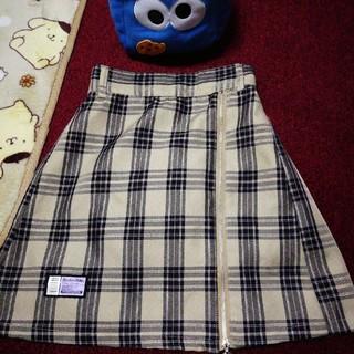 シマムラ(しまむら)のチェック台形スカパン◆サイズ150 (スカート)