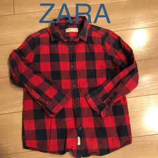ザラ(ZARA)のZARA チェックシャツ 128cm(ブラウス)