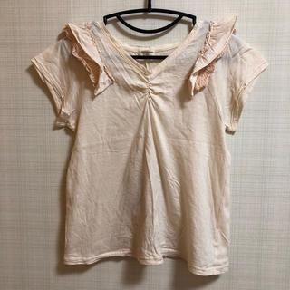 カロリナグレイサー(CAROLINA GLASER)の美品 カロリナグレイサ リボンフリルTシャツ(Tシャツ(半袖/袖なし))