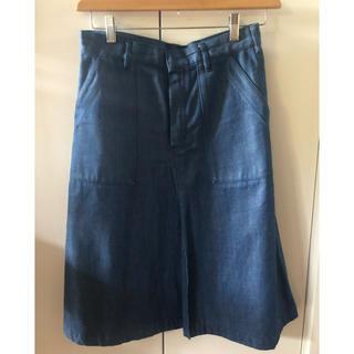 ハイク(HYKE)のHYKE デニムスカート size1(ひざ丈スカート)
