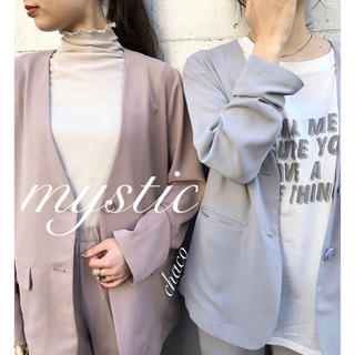 mystic - 春新作🌼¥9350【mystic】ノーカラージャケット 春ジャケット