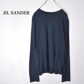 ジルサンダー(Jil Sander)のJIL SANDER ジルサンダー  バッグネック ロゴ ロングカットソー(Tシャツ/カットソー(七分/長袖))
