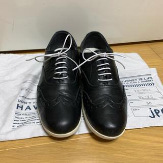 ショセ(chausser)のショセ トラベルシューズ 黒 36(ローファー/革靴)