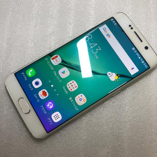 ギャラクシー(Galaxy)のGalaxy S6 edge SCV31 ホワイト ジャンク(スマートフォン本体)