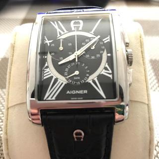 エティエンヌアイグナー(Etienne Aigner's)のアイナー Aigner San Remo クロノSS ブラックレザーA32500(腕時計(アナログ))