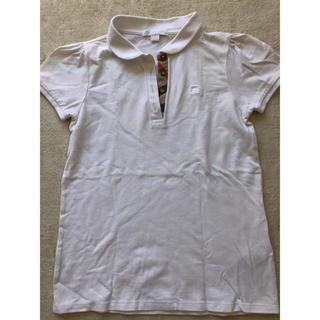 バーバリー(BURBERRY)のバーバリー ポロシャツ  白 140(Tシャツ/カットソー)
