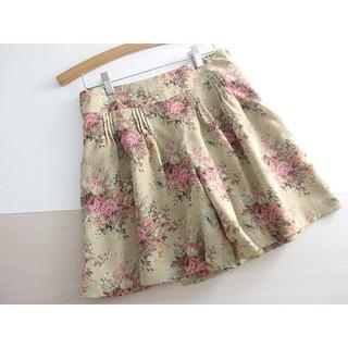 クチュールブローチ(Couture Brooch)の春夏 ⚫クチュールブローチ⚫ 花柄フレアーショートパンツ 36 ♪(ショートパンツ)