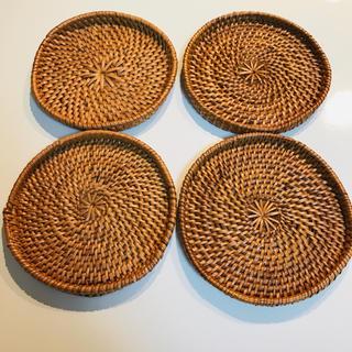 ムジルシリョウヒン(MUJI (無印良品))の無印良品 コースター🍀4つセット🍀(テーブル用品)