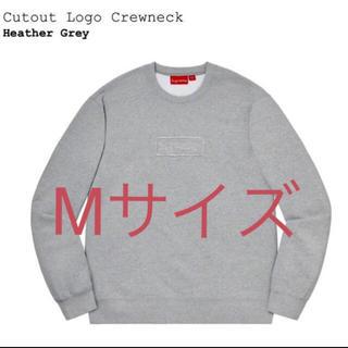 シュプリーム(Supreme)のSupreme Cutout Logo Crewneck grey Mサイズ(スウェット)