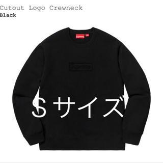 シュプリーム(Supreme)のsupreme cutout logo crewneck BLACK Sサイズ(スウェット)