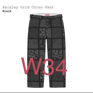 シュプリーム(Supreme)のSupreme Paisley Grid Chino Pant ブラック34(チノパン)