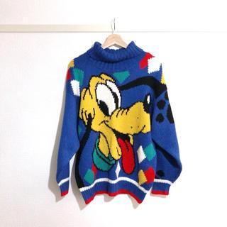 ディズニー(Disney)の〈 vintage 〉Disney * プルート * knit(ニット/セーター)