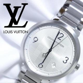 ルイヴィトン(LOUIS VUITTON)の参考定価45万!【新品同様】(未使用)タンブールスリムGM N4 (腕時計(アナログ))