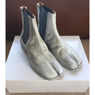 マルタンマルジェラ(Maison Martin Margiela)の20SS新品42 メゾン マルジェラ 足袋ブーツ タビ ペンキ tabi メンズ(ブーツ)