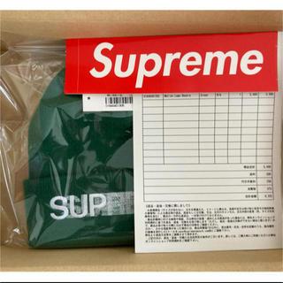 シュプリーム(Supreme)のシュプリーム supreme motion logo beanie グリーン(ニット帽/ビーニー)