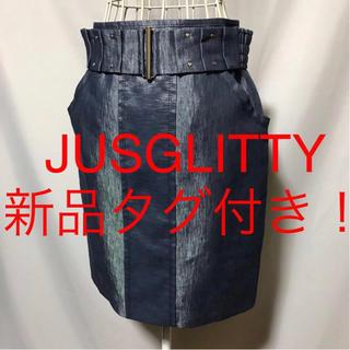 ジャスグリッティー(JUSGLITTY)の★JUSGLITTY/ジャスグリッティー★新品タグ付★ベルト付!タイトスカート2(ひざ丈スカート)