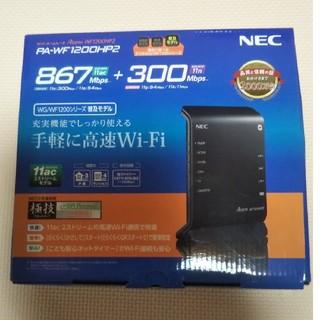 エヌイーシー(NEC)のWi-Fiルーター NEC PA-WF1200HP2(PC周辺機器)