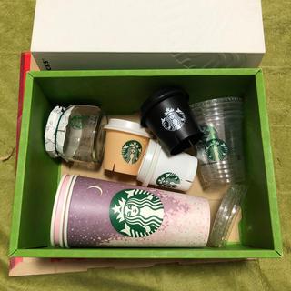 スターバックスコーヒー(Starbucks Coffee)の韓国スタバ 空き容器、カップ、瓶の11個セット(容器)